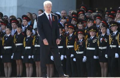 Сергей Собянин принял участие в первом московском Параде кадетов на Поклонной горе