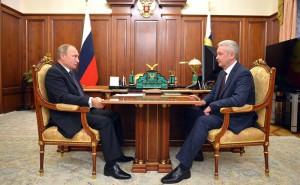Сергей Собянин на встрече с Владимиром Путиным