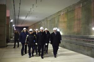 """Собянин: Строительство станции """"Мичуринский проспект"""" идет высокими темпами"""