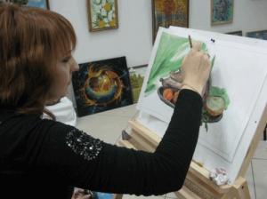 Открытый урок в студии пейзажа «Возрождение»