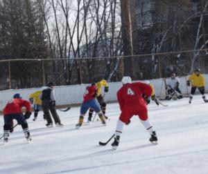 На матче по хоккею жителей района Орехово-Борисово Южное
