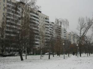 Двор одного из домов в районе Орехово-Борисово Южное