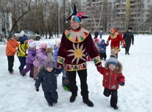 Праздник масленицы в районе Орехово-Борисово Южное