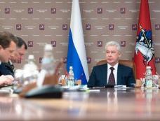 Сергей Собянин на на заседании Президиума Правительства Москвы