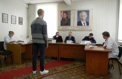 Одно из заседаний призывной комиссии в районе