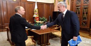 Президент России и мэр Москвы Сергей Собянин обсудили развитие транспортной инфраструктуры столицы
