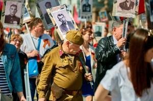 """В акции """"Бессмертный полк"""" в центре Москвы приняли участие свыше 700 тысяч человек"""