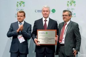Мэр Москвы Сергей Собянин на Международном транспортном форуме
