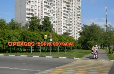 Зеленая зона в районе Орехово-Борисово Южное