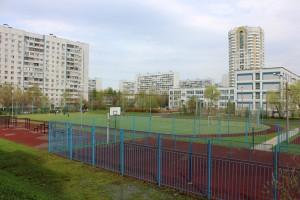 Футбольное поле в одном из районов ЮАО