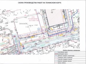 Схема строительства спорткомплекса