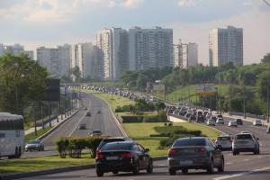 На Каширском шоссе в районе Орехово-Борисово Южное