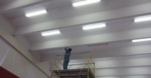 Замена освещения в здании школы