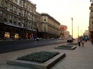 Тверская улица в центре Москвы