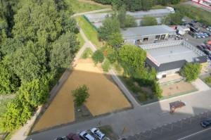 Вид на площадку с крыши