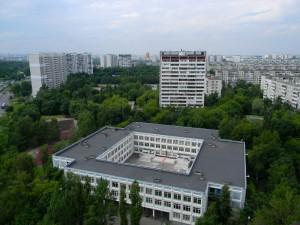 Вид на район Орехово-Борисово Южное с крыши