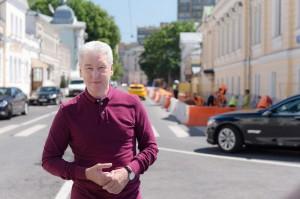 Мэр Москвы Сергей Собянин осмотрел ход благоустройства на площади Мясницкие ворота