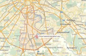 """Южный округ на """"Яндекс.Картах"""""""