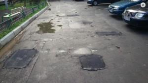 Благодаря порталу «Наш город» во дворе одного из домов заасфальтированы ямы и выбоины