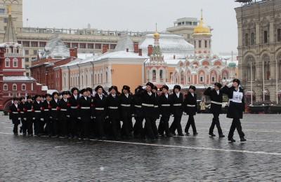 Кадеты на Красной площади