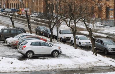 На одной из парковок Москвы