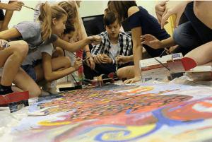 Ученики центра образования Царицыно  на акции Культура Азии