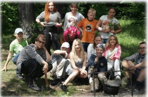 Участники клуба Прорыв во время летнего турпохода