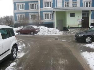 Территория улицы до очистки от снега