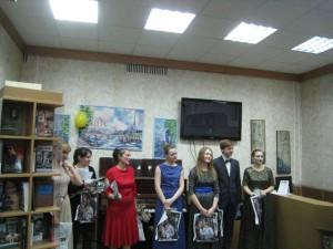 Участники литературно-музыкальной программы