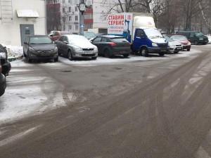 Территория после очистки от снега