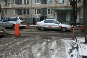 Шлагбаум в районе Орехово-Борисово Южное