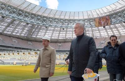 Сергей Собянин посетил Лужники