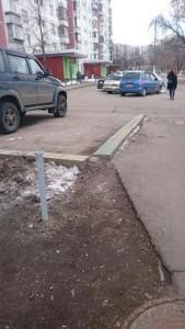 Отремонтированный столбик в Орехово-Борисово Южное