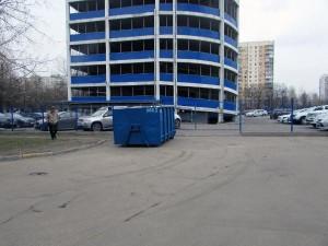 Мусорный контейнер в районе Орехово-Борисово Южное