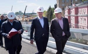 Мэр Москвы Сергей Собянин открыл новый железнодорожный путепровод
