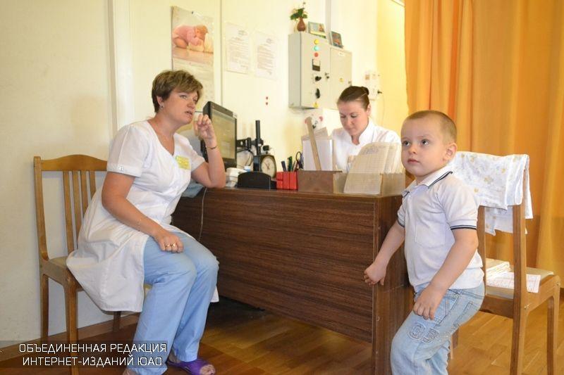 Прием в детской поликлинике района Орехово-Борисово Южное