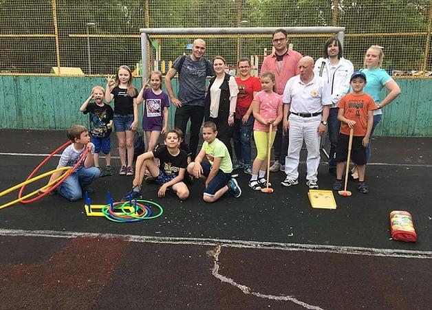 Игры на свежем воздухе в районе Орехово-Борисово Южное