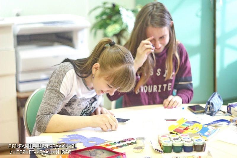 Дети в библиотеке ЮАО