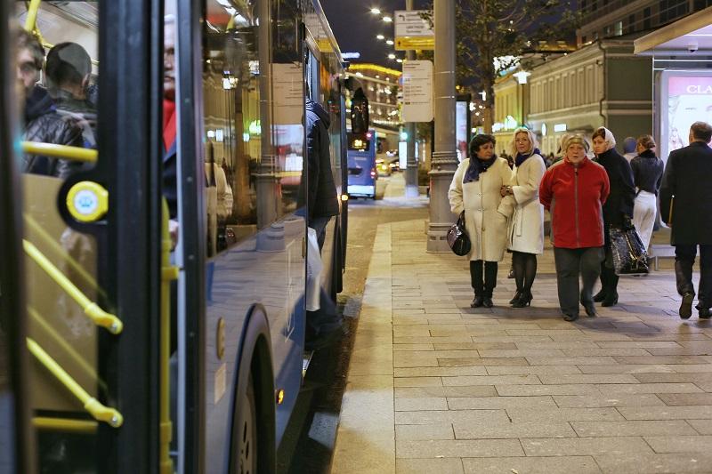 Автобус, ЮАО, ночь