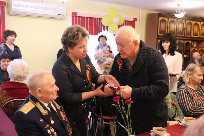 Вручение медалей ветеранам, ТЦСО Орехово, ветераны