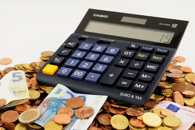 Калькулятор, деньги, богатство, финансы
